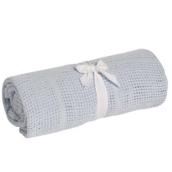 【淘氣寶寶】奇哥 mothercare 中大床棉毯/洞洞毯120*155cm-藍