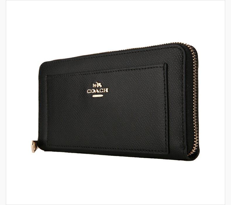 COACH F52648 美國正品質感防刮真皮拉鍊長夾女長款錢包拉鏈手拿包女士皮夾, 3