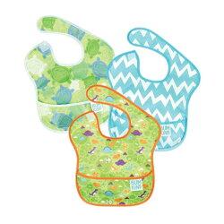 美國Bumkins 兒童防水圍兜(3入)-B09款 BKS3-B09【悅兒園婦幼生活館】