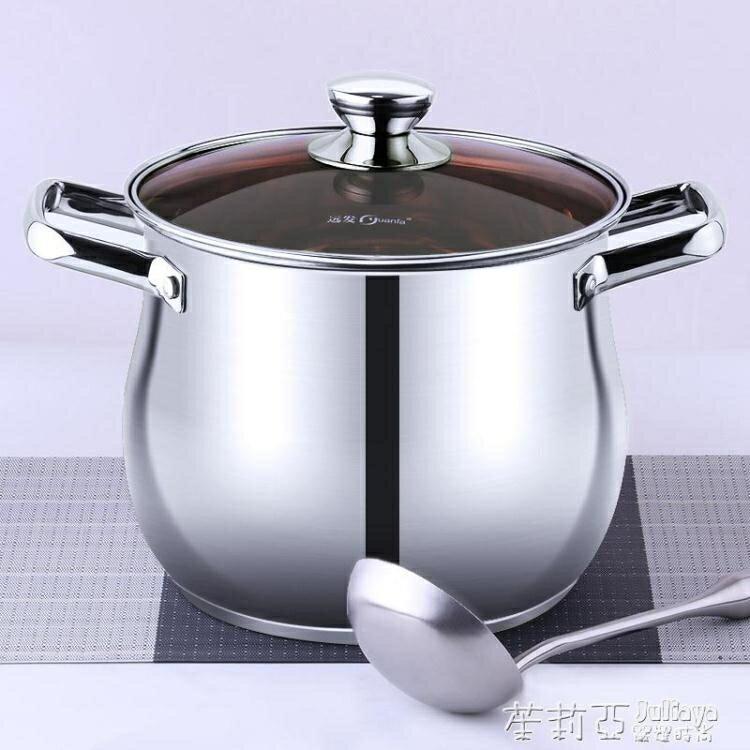 不銹鋼鍋湯鍋家用小蒸鍋燃氣電磁爐專用煲粥煮鍋加厚燒水雙耳鍋具