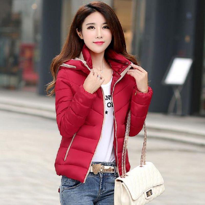 羽絨棉短款夾克拉鏈外套(8色)