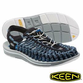 Keen UNEEK 8MM CAMO 男 編織款拉繩涼鞋 黑/藍/迷彩 1014621