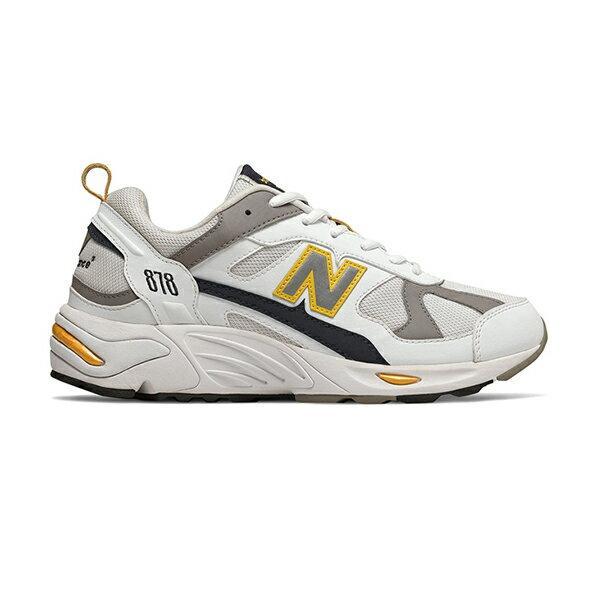 【NEW BALANCE】NB 878 復古鞋 休閒鞋 老爹鞋 經典復刻 中性 白黃 男女鞋 -CM878TCAD 1