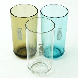 【珍昕】 雪晶水杯~3色/透明.墨黑.藍色 (7X7X14cm/400ml)