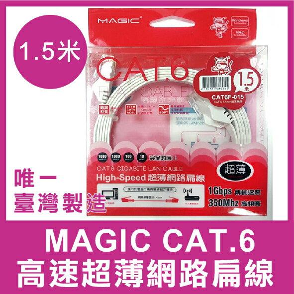 iPanic 【台灣製造】 MAGIC CAT.6 高速 超薄 網路 扁線 1.5米 網路線 網路傳輸線 網路扁線 超薄扁線 高速傳輸