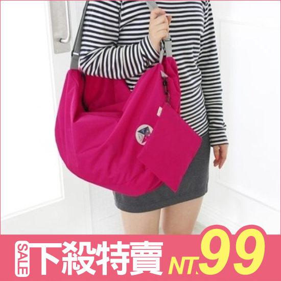 ?MY COLOR?-Style韓版可折疊收納包行李袋雙肩後背包側揹包手提出國旅行非 PUMA TOMS【Y09】
