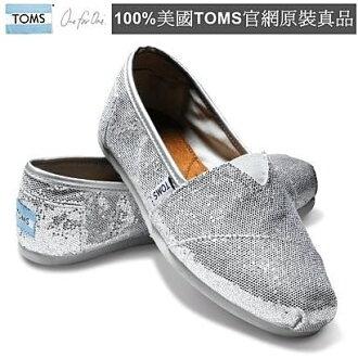 【Cadiz】美國真品正品 TOMS 經典亮片銀色平底鞋 [Silver Women\