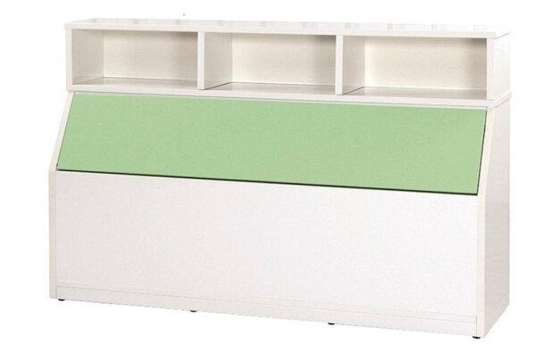 石川家居:【石川家居】846-08(5尺綠白色)床頭箱(CT-214)#訂製預購款式#環保塑鋼P無毒防霉易清潔