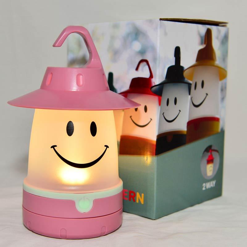 粉色 LED 微笑小夜燈 露營吊燈 緊急照明燈 日本帶回 同歩流行