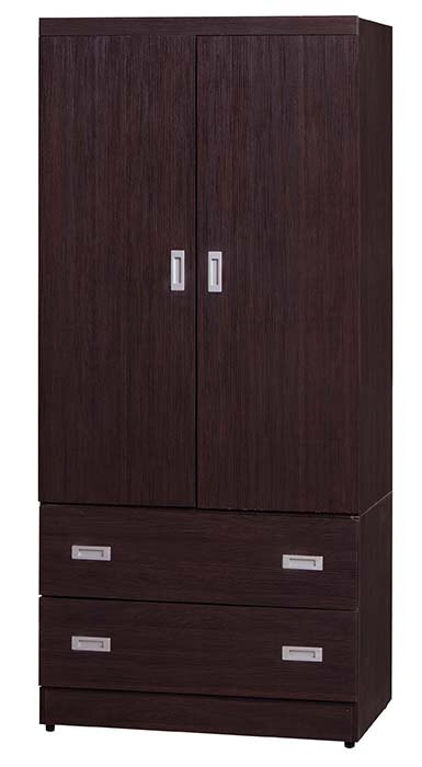 【尚品傢俱】K-927-31-02 3*6尺胡桃衣櫃(全木心板)
