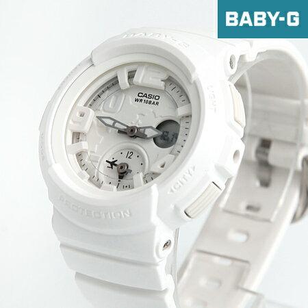 Baby-G 雪白雙顯地圖手錶 柒彩年代【NECB4】casio BGA-190BC-7BDR