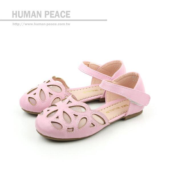 小女生鞋 涼鞋 粉 中童 no479