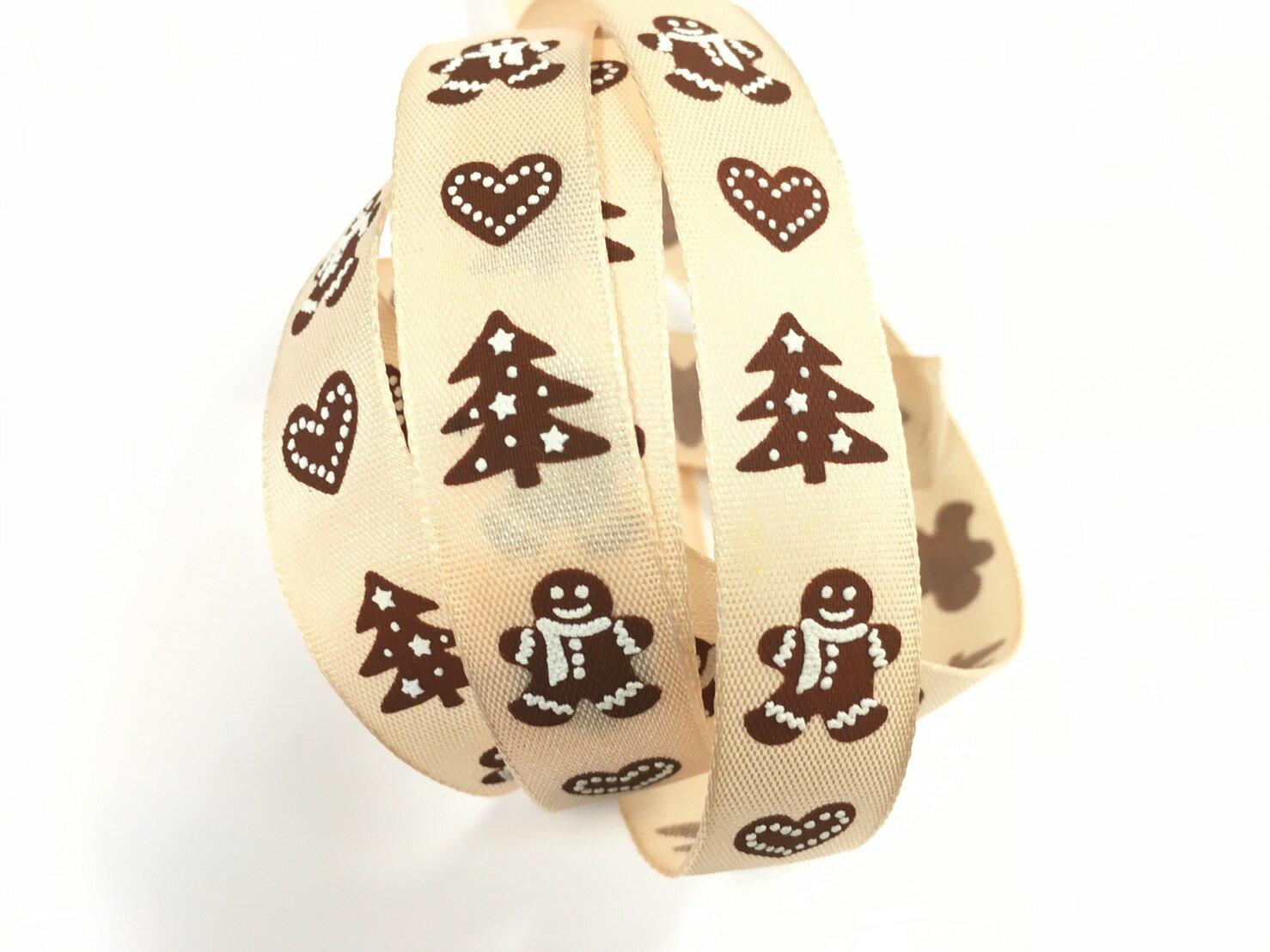 聖誕緞帶薑餅人 3碼裝 (2款) - 限時優惠好康折扣