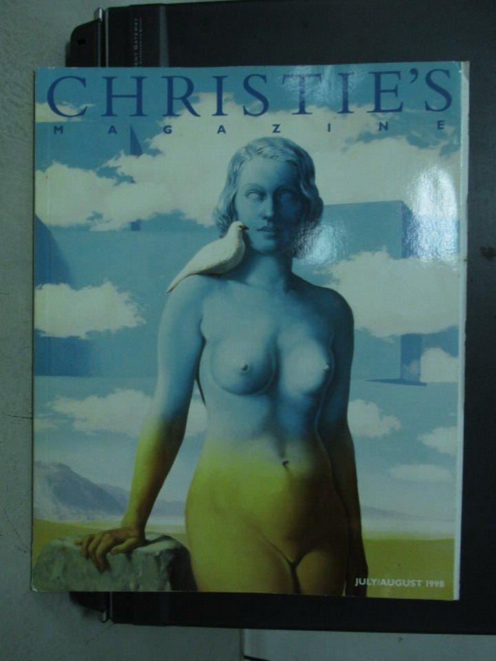 【書寶二手書T5/收藏_ZHJ】Christie's Magazine_1998/7-8