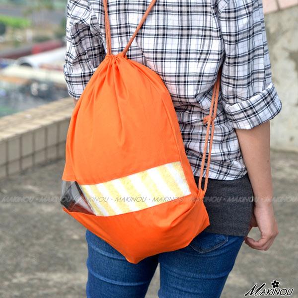 收納袋|日系簡約 旅行束口袋背包| 牧野 收納包 鞋袋 包中包 旅行李箱 MAKINO