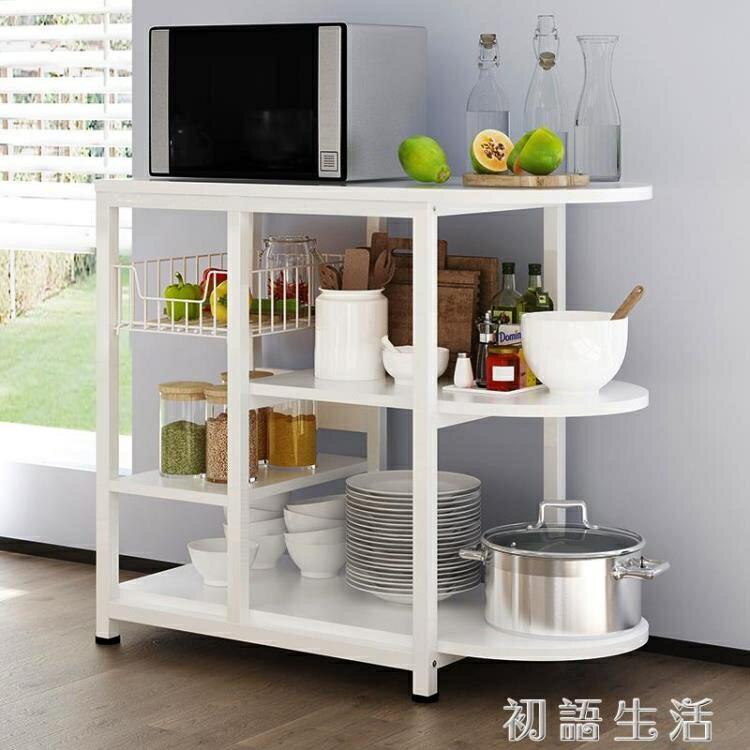 「樂天優選」廚房置物架落地多層多功能櫃子微波爐架家用蔬菜收納架碗櫃烤箱架