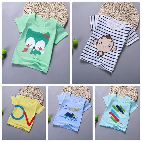 嬰兒短袖上衣嬰幼兒短袖T恤寶寶童裝HY00815好娃娃