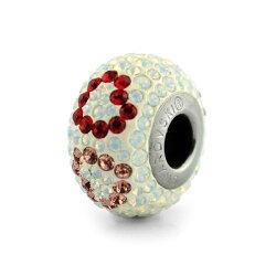 swarovski施華洛世奇水晶元素 串珠-雙色愛心串珠 潘朵拉風格 84506