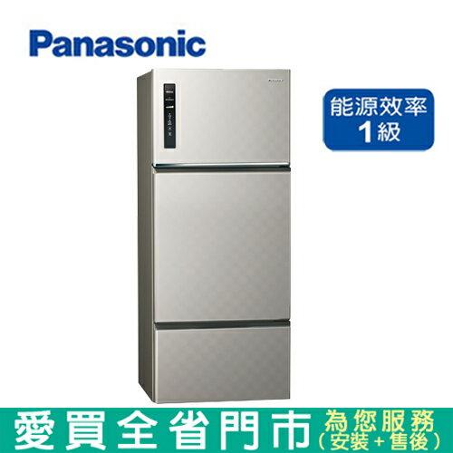 Panasonic國際481L三門變頻冰箱NR-C489TV-S1含配送到府+標準安裝  【愛買】 - 限時優惠好康折扣