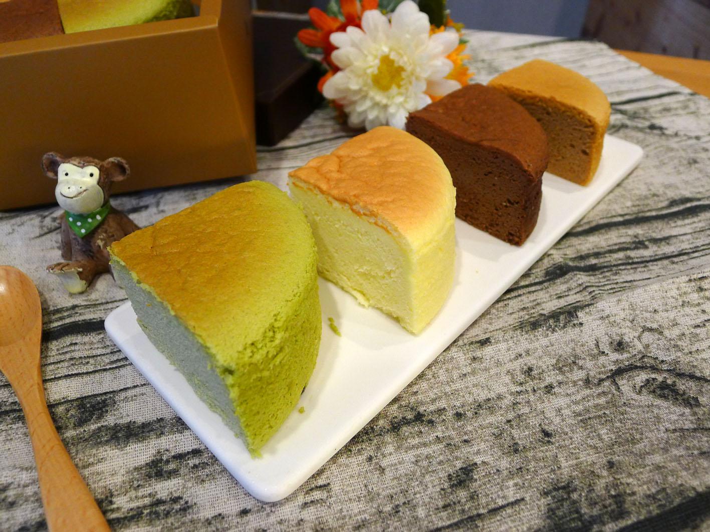 【輕。乳酪】六吋蛋糕│蛋奶素 原味/抹茶/巧克力/紅麴 軟綿綿像雲朵般的口感,蛋糕體細膩、輕盈、鬆軟又濕潤!280克±5%/盒 3