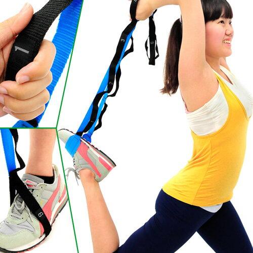 12拉環套式瑜珈伸展帶 環節式助展帶.瑜珈帶韻律帶拉筋帶.支撐帶拉力器拉力帶拉力繩.輔助繩