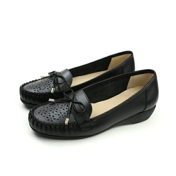 HUMAN PEACE:HUMANPEACE懶人鞋休閒鞋平底鞋舒適好穿黑色女鞋A205no591