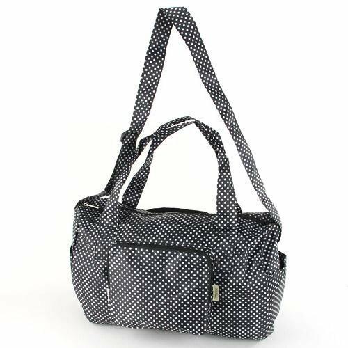 【預購】摺疊收納旅行袋- 黑底白點 - 限時優惠好康折扣