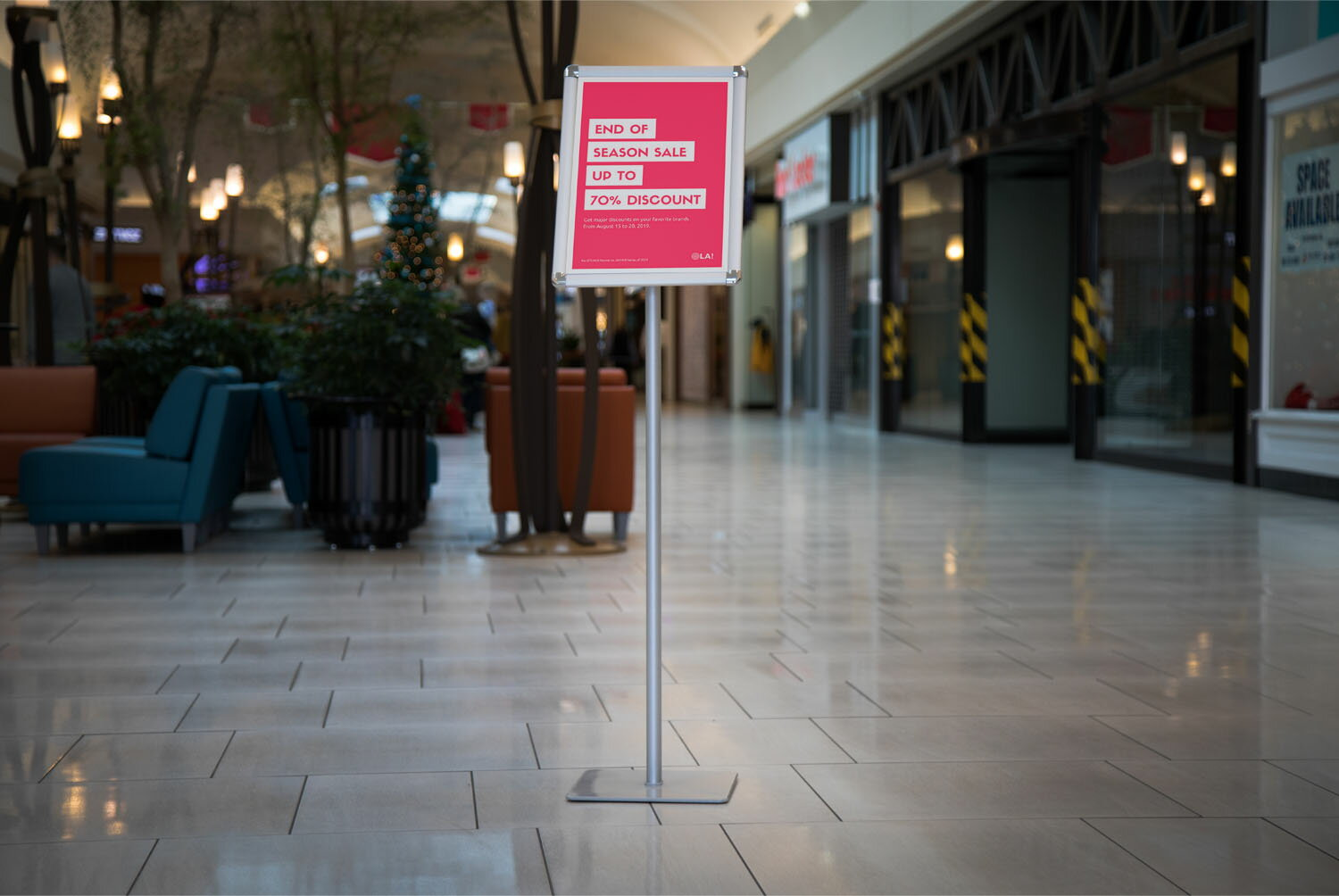 Offex A3 Size Paper Pedestal Directional Sign Holder Stand 6