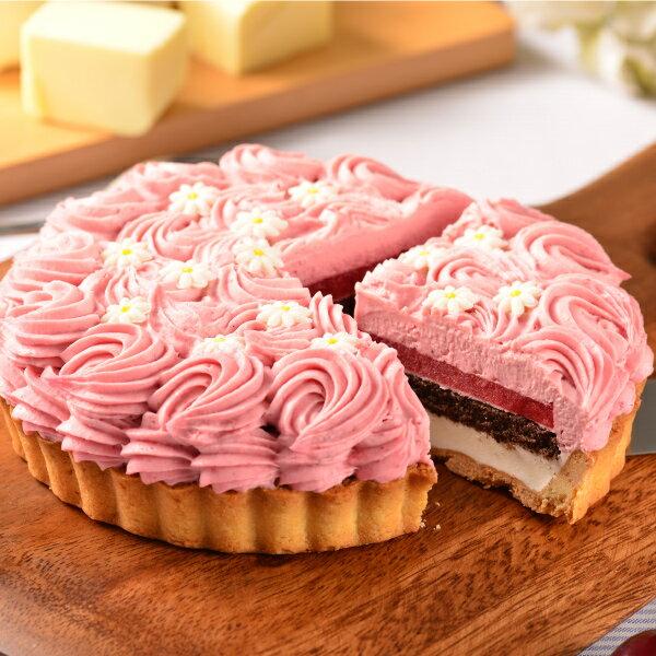 喬伊絲 手作甜品★6吋 花漾覆盆莓★層層堆疊的極致美感、酸V的滋味不僅衝擊你的舌尖味蕾,更讓你吃得健康、清爽無負擔!#伴手禮 #生日 #慶祝 3