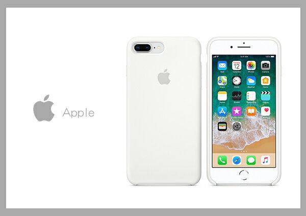 Mr ORIGINAL:Apple原廠iPhone8Plus7Pluscase適用矽膠保護殼-白色