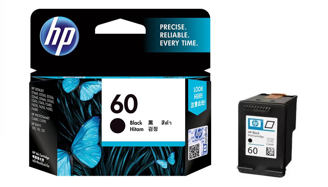 惠普 HP CC640WA NO.60 原廠黑色超值型墨水匣 約可印200頁