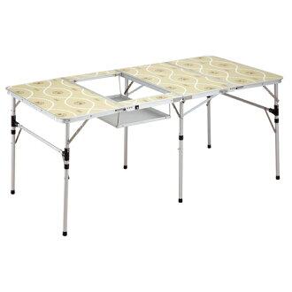 【露營趣】中和 Coleman 薄型四折烤肉桌 燒烤桌 摺疊桌 餐桌 BBQ桌 野餐桌 CM-7638