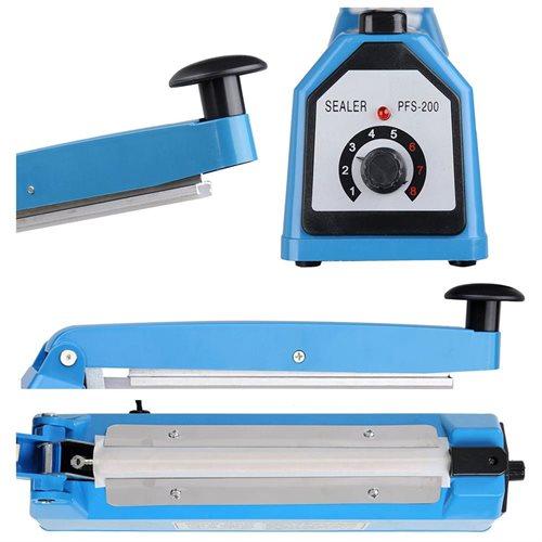 "8"" Impulse Manual Sealer Heat Sealing Machine Poly Tubing Plastic Bag Spare Teflon 3"