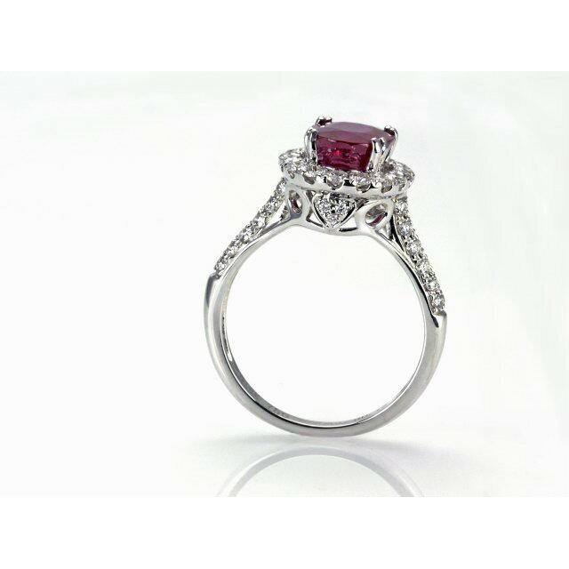 天然紅寶石戒指 2.55克拉 鴿血紅/緬甸 商品編號:YC050406-2