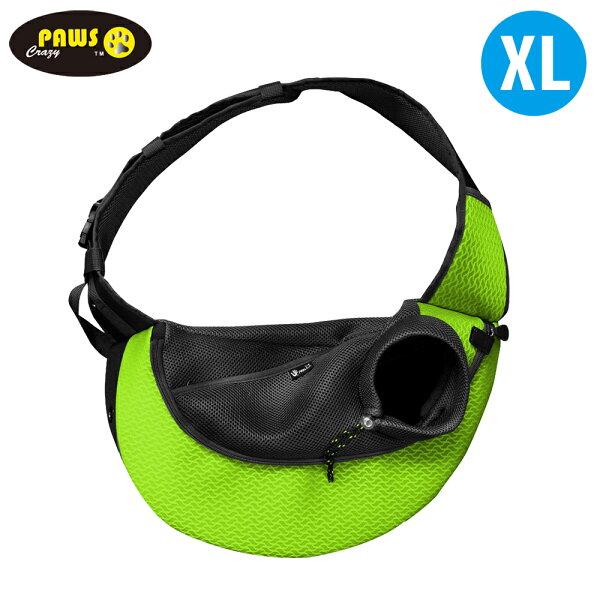 【crazypaws瘋狂爪子】FeelU運動風寵物側背包-XL(休閒娛樂狗毛小孩旅遊)