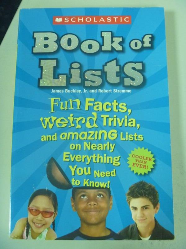 【書寶二手書T6/原文小說_IRU】Scholastic Book of Lists New And Updated_J