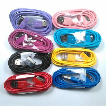 iphone 30pin 彩色傳輸線( 2米)