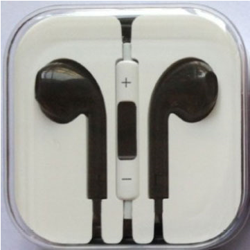 iphone5 耳機 黑色(可調音)