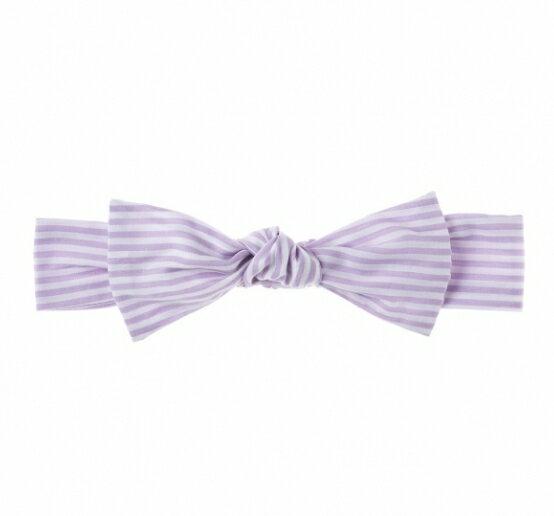 NIVA嬰幼兒超可愛純棉髮帶(條紋粉紫)
