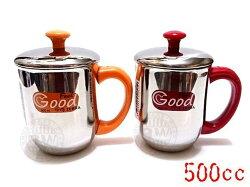 ZEBRA斑馬牌雙層不鏽鋼嘟嘟杯500ml【單入】㊣304不銹鋼茶杯子 隔熱杯 馬克杯 漱口杯 水杯