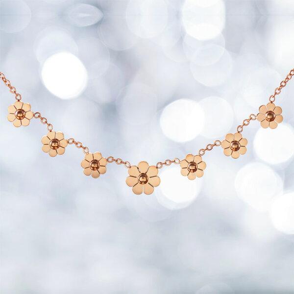 【5折超值價】時尚精美日韓風格花瓣造型鈦鋼女款項鍊