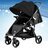 【酷貝比】城市嬰兒手推車 共三色可選 紅/灰/黑 贈送價值NT$690雨罩 2