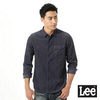 【精選上衣3折】Lee 法蘭絨印花長袖襯衫