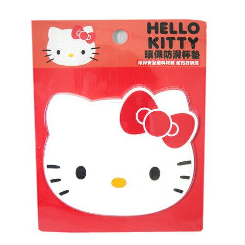 【真愛日本】15091900010環保防滑杯墊-KT紅  三麗鷗 Hello Kitty 凱蒂貓 杯墊  防滑  墊子