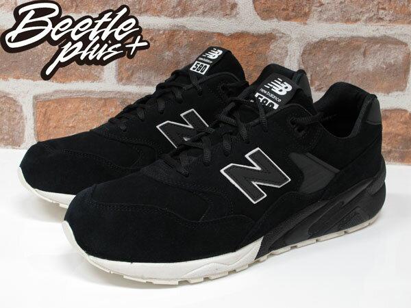 男女 BEETLE NEW BALANCE 580 輕量 麂皮 黑白 反光 3M 黑魂 武士 慢跑鞋 MRT580BV 1