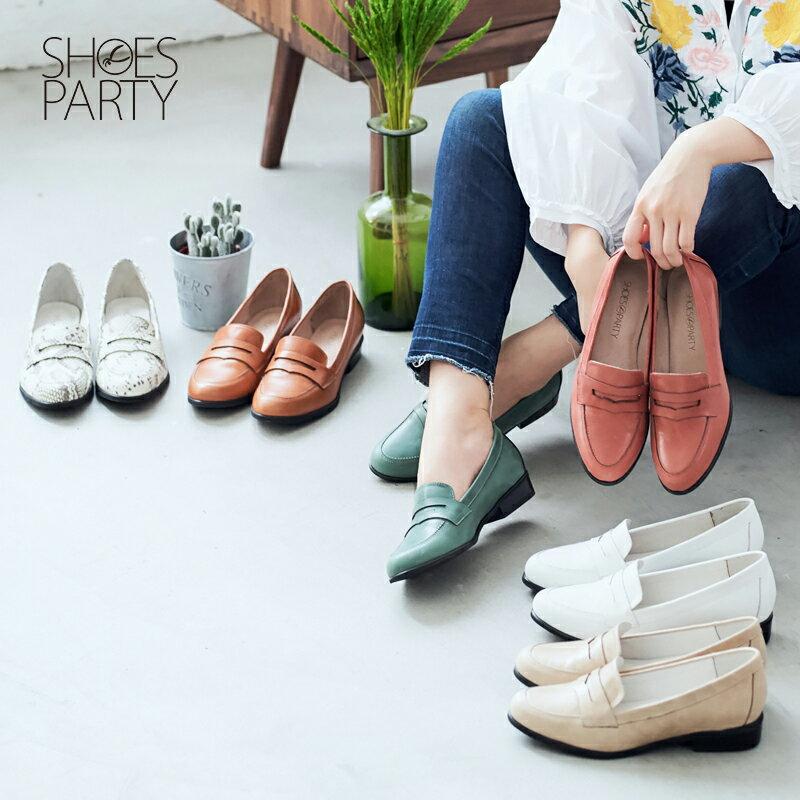 【 P2-17120L 】經典真皮樂福鞋_Shoes Party 0