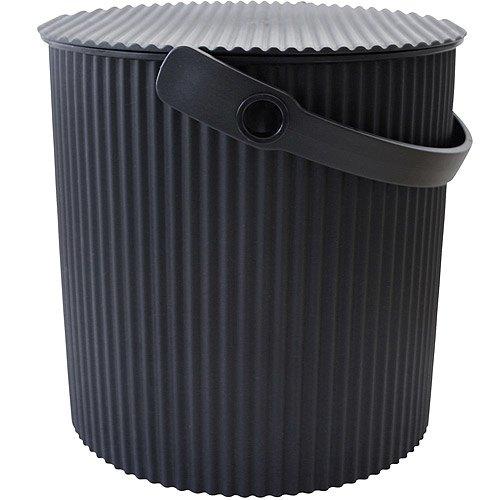 《Sceltevie》瓦楞收納桶(黑L)