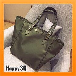 手提包蝙蝠包大包包斜背包單肩包鍊條包編織包素色包包-黑/綠【AAA2832】