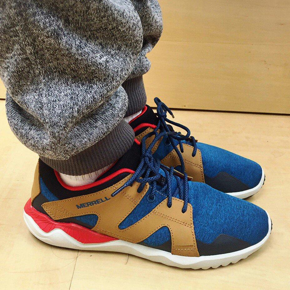 MERRELL 1SIX8 LACE 男 休閒鞋 藍咖啡 健行鞋│休閒鞋│運動鞋 1
