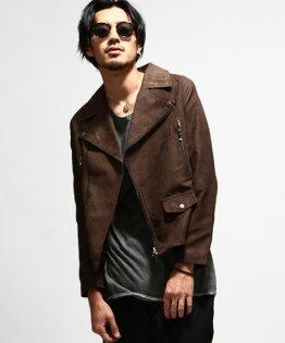 騎士外套麂皮棕色